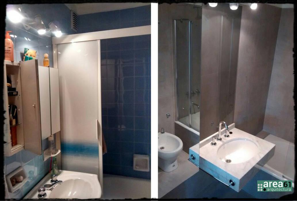 Baño en Belgrano: Baños de estilo  por Area61 Arquitectura