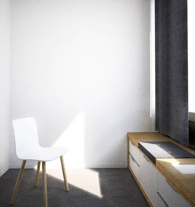 Belle Ville Atelier d'Architecture Ofis Alanları Ahşap Beyaz