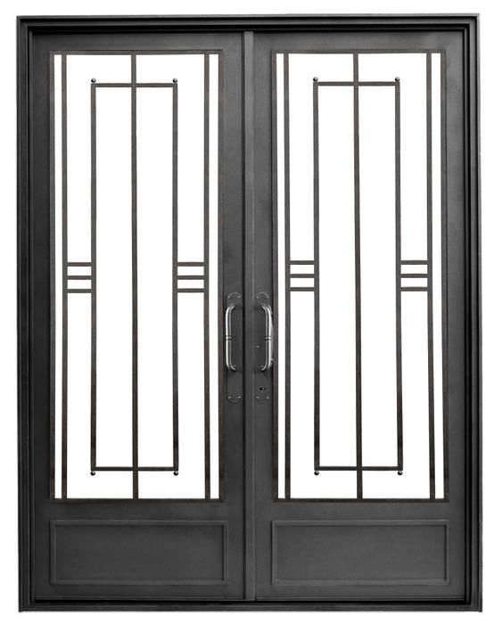Puerta de hierro modelo Berta: Casas de estilo  por DEL HIERRO DESIGN