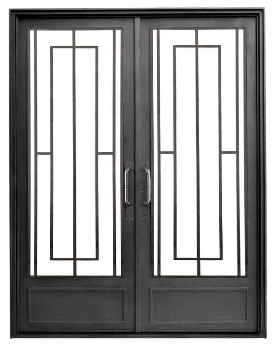 Puerta de entrada de hierro Modelo Antonia: Casas de estilo moderno por DEL HIERRO DESIGN