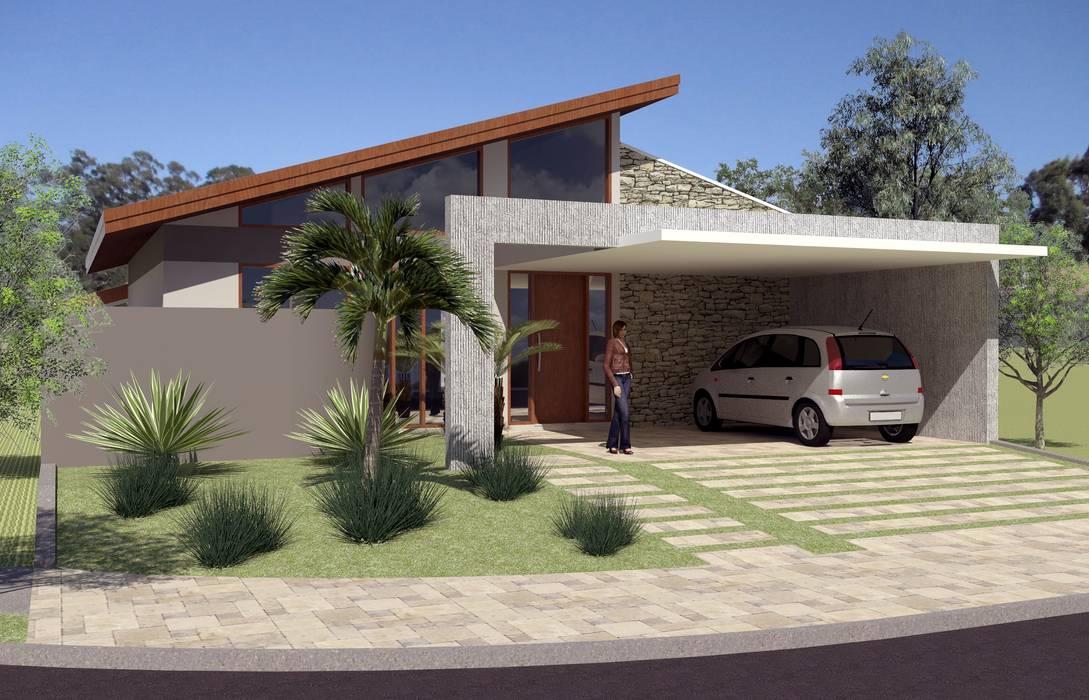 Residência PHP: Casas  por Hamilton Turola Arquitetura e Design