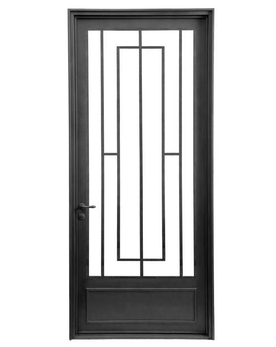 Puerta de entrada de una hoja Casas modernas: Ideas, imágenes y decoración de DEL HIERRO DESIGN Moderno Hierro/Acero
