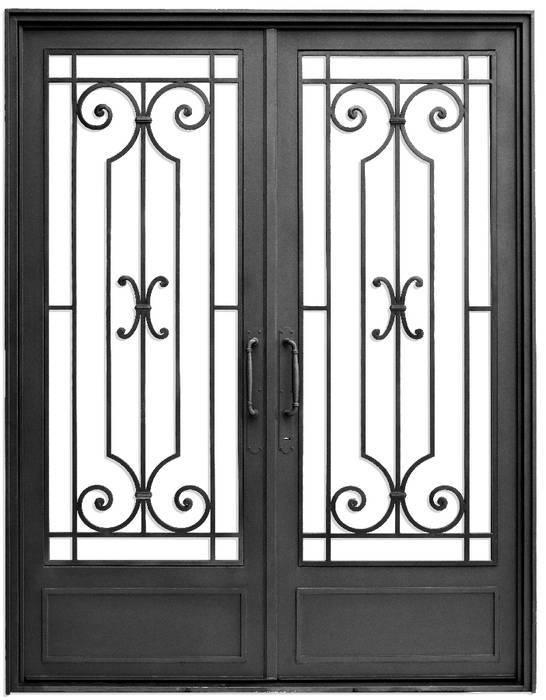 Puerta de acceso: Casas de estilo  por DEL HIERRO DESIGN