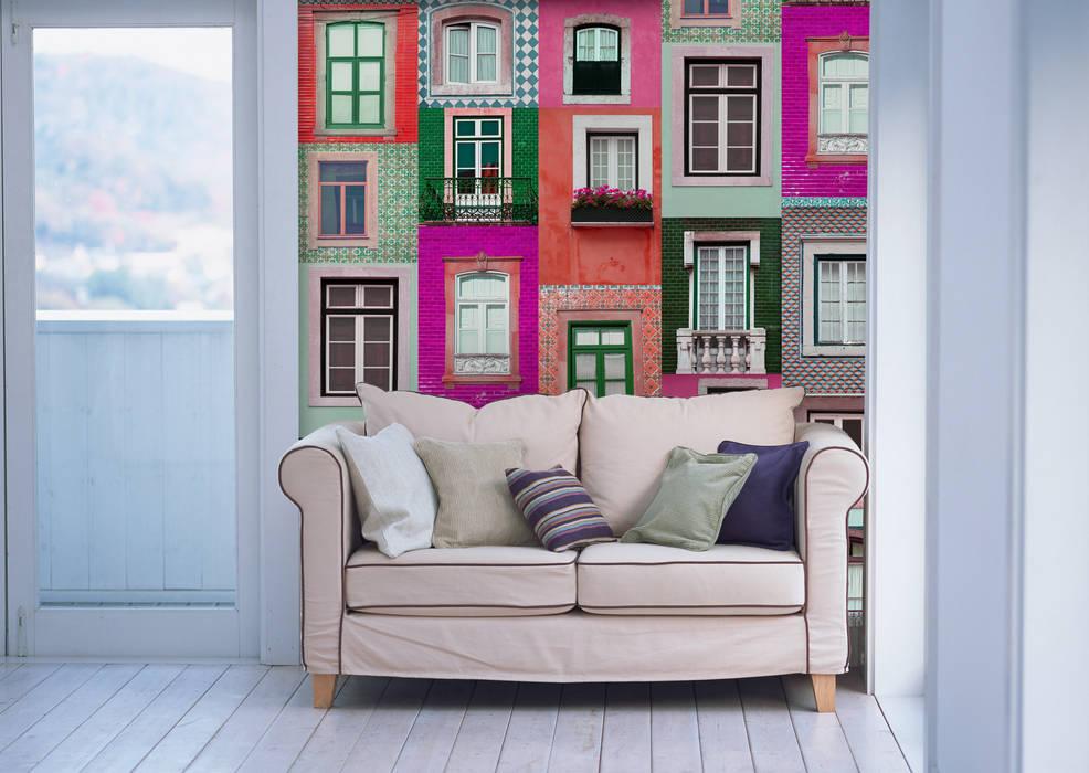 Janelas Portuguesas Rubi OH Wallpaper Walls & flooringWallpaper Paper Multicolored
