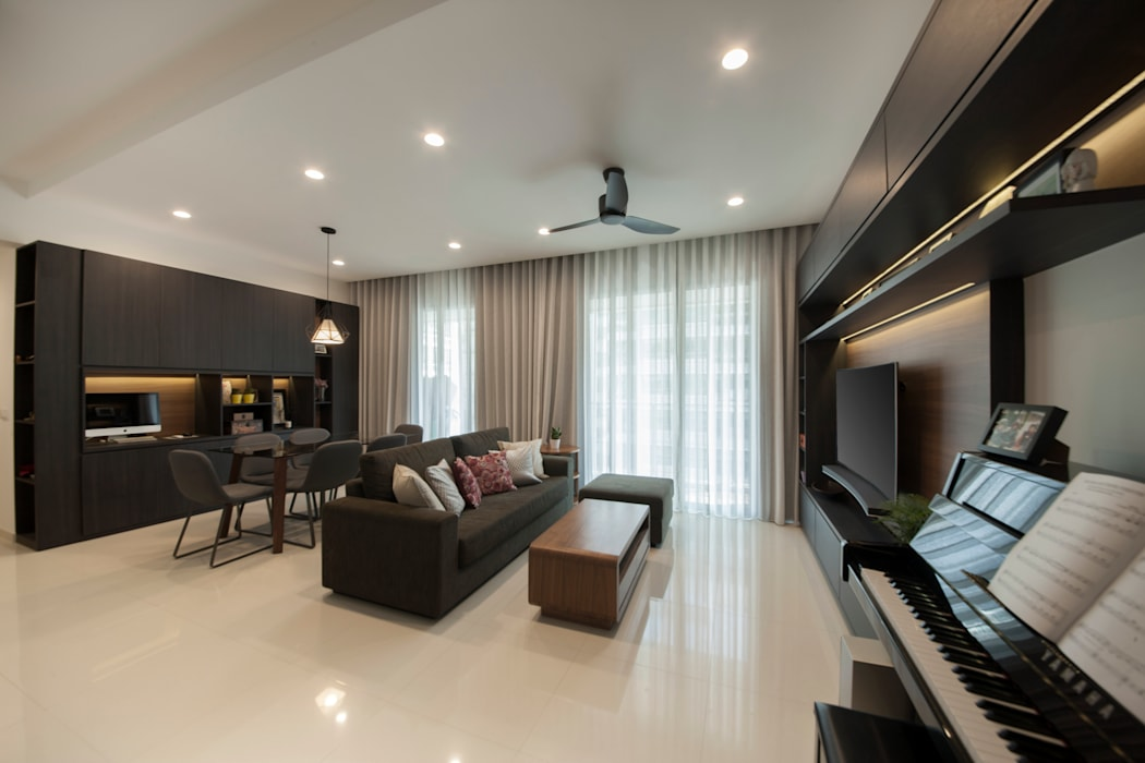 THE LIVIA:  Living room by Eightytwo Pte Ltd