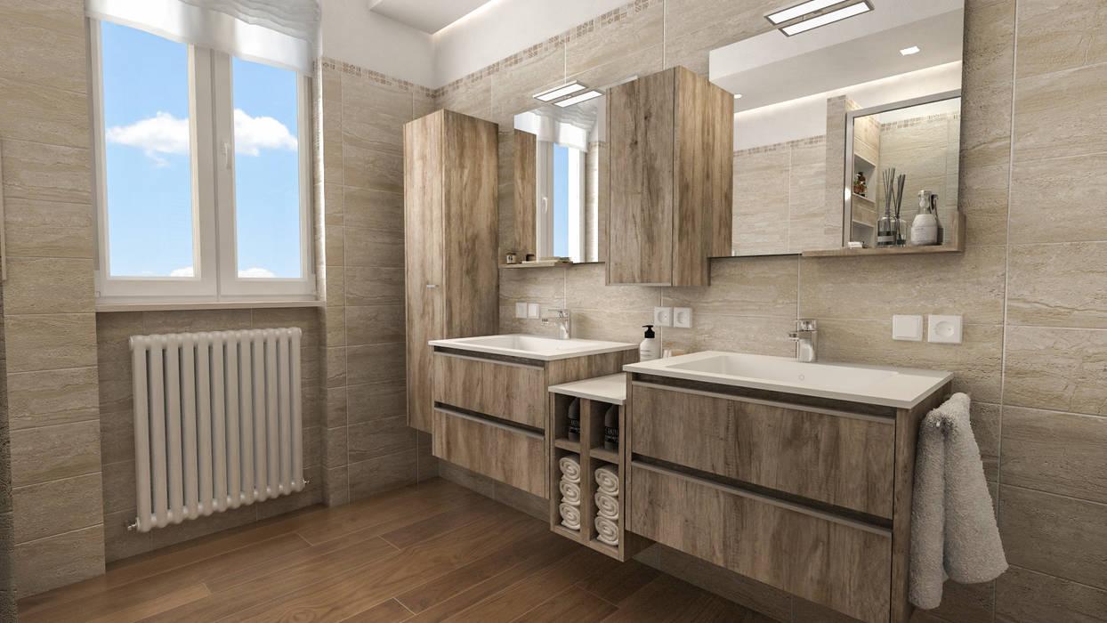 Progetti di ristrutturazione di bagni privati bagno in stile di studiosagitair homify - Progetti per bagno ...