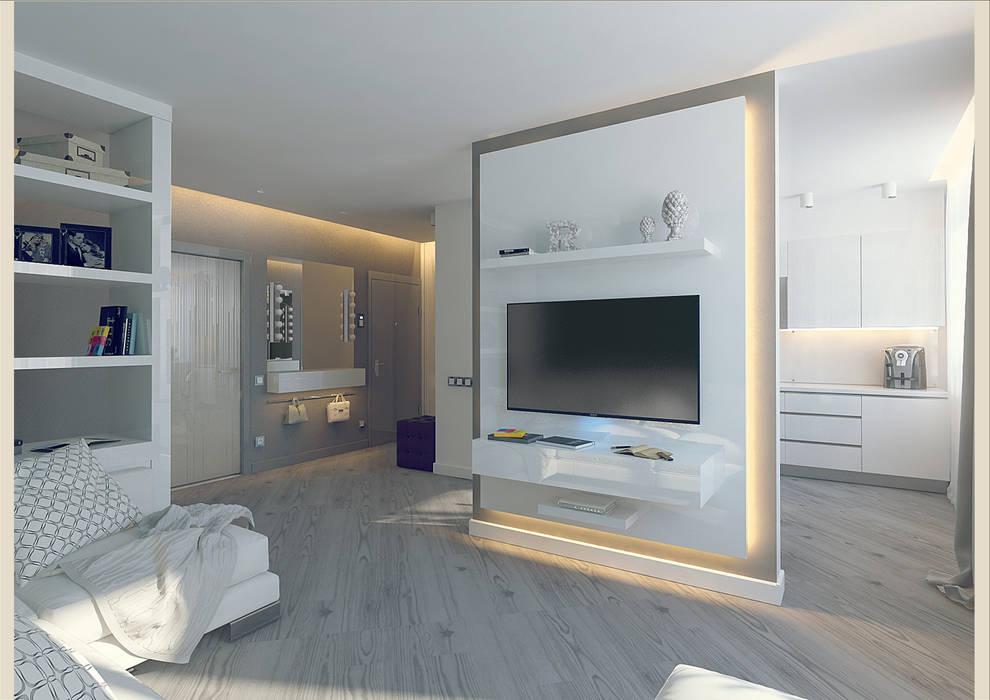 Soggiorno in stile in stile minimalista di tutto design for Soggiorno minimalista