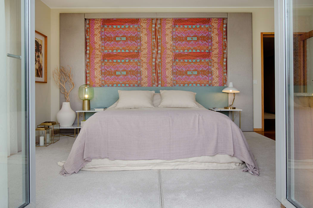 Eclectic style bedroom by SHI Studio, Sheila Moura Azevedo Interior Design Eclectic