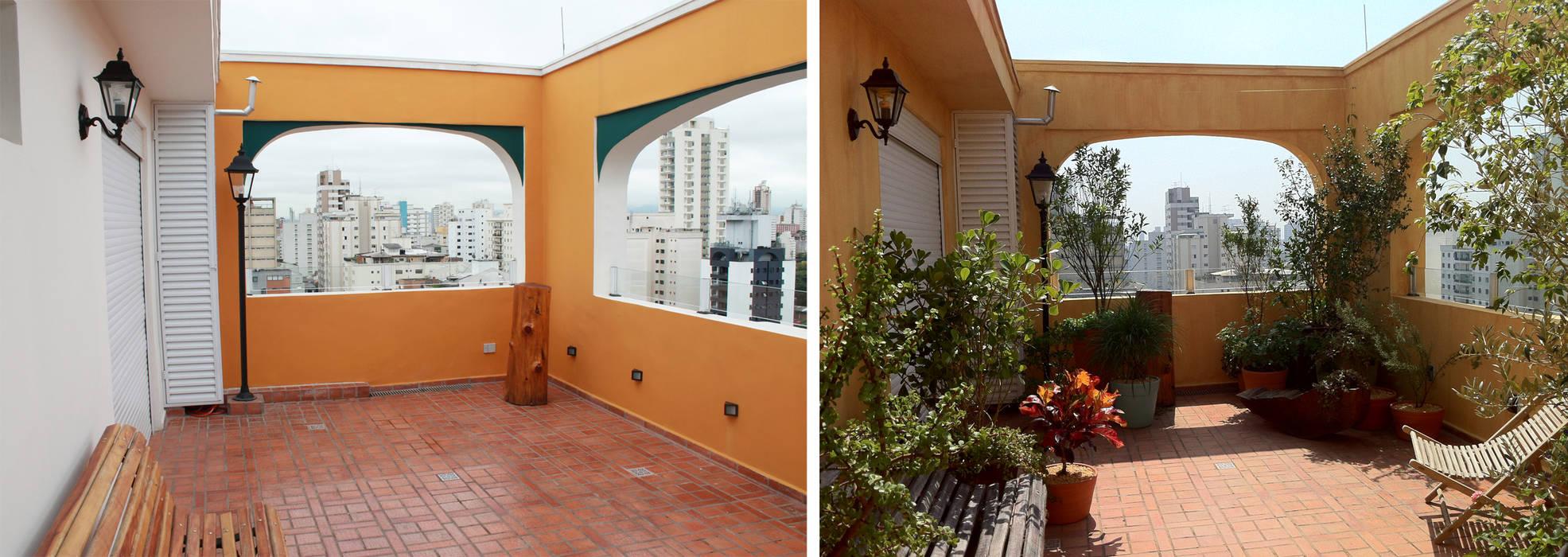 Rustic style balcony, veranda & terrace by Renata Villar Paisagismo e Arranjos Florais Rustic