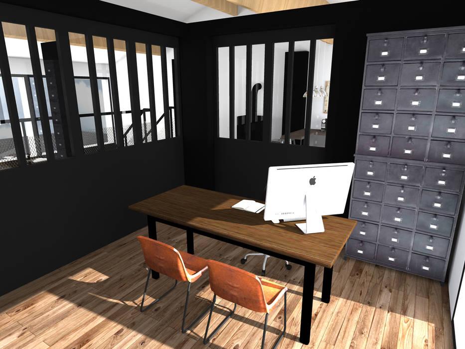 """Showroom """"Les cheminées de l'atlantique"""": Locaux commerciaux & Magasins de style  par Sandia Design"""