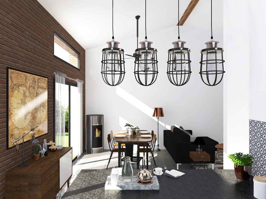 Esprit atelier « loft industriel & vintage »: cuisine de style par ...