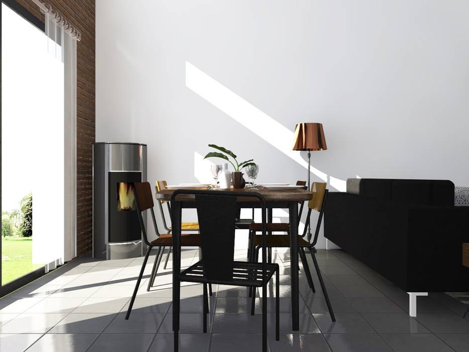 """Esprit atelier """"Loft industriel & vintage"""": Salle à manger de style  par Sandia Design"""