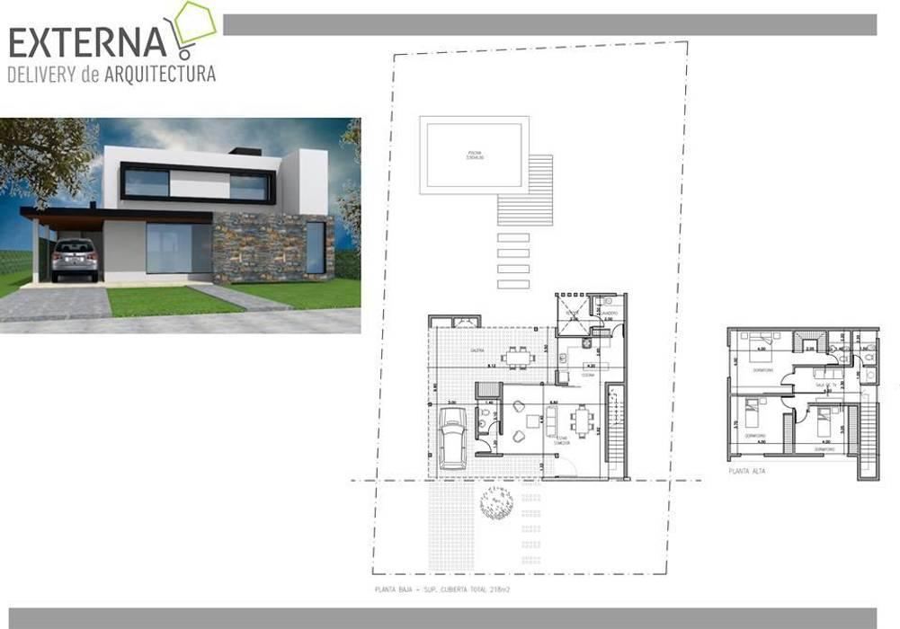 Vivienda Valle Escondido: Casas de estilo  por Externa Arquitectura