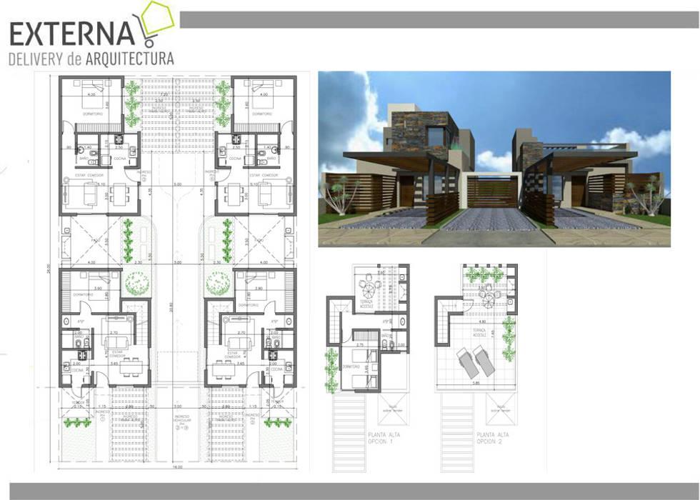 Hpusing Oncativo: Casas de estilo  por Externa Arquitectura