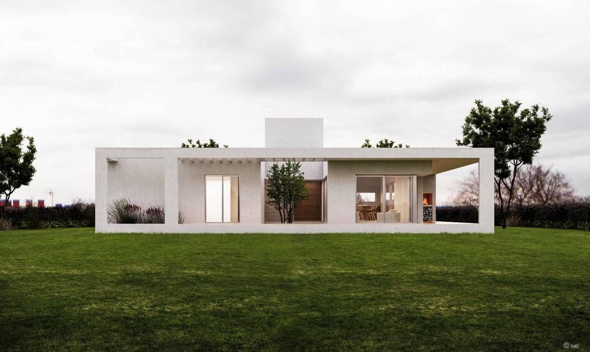 Projekty,  Domy zaprojektowane przez 1.61 Arquitectos