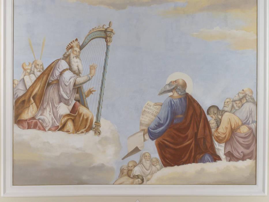 Assunzione della Vergine.: Pareti in stile  di erica de rosa, dipinti, affreschi, trompe l'oeil,  decorazioni - Venezia