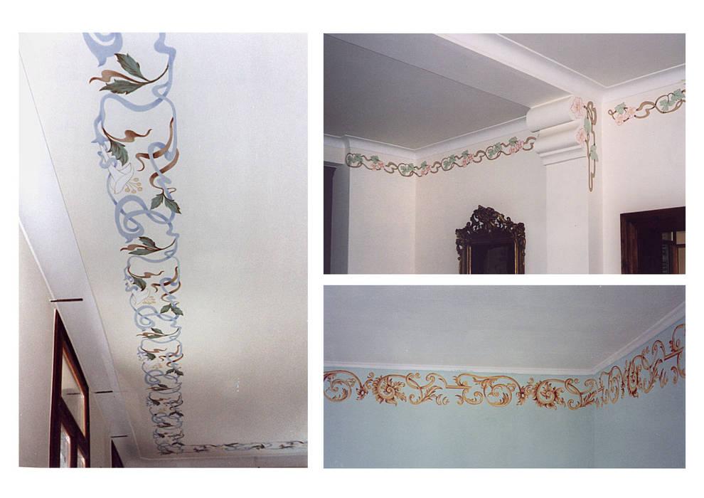 Decori per pareti.: Pareti in stile  di erica de rosa, dipinti, affreschi, trompe l'oeil,  decorazioni - Venezia