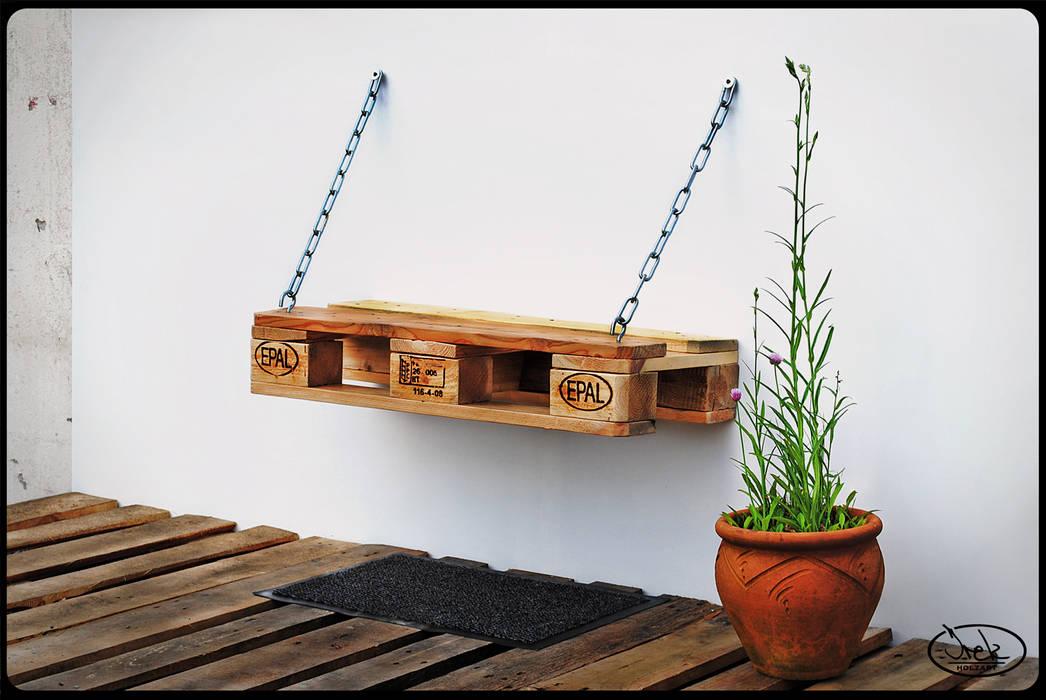 IrekHolzArt 玄關、走廊與階梯座椅 木頭 Beige