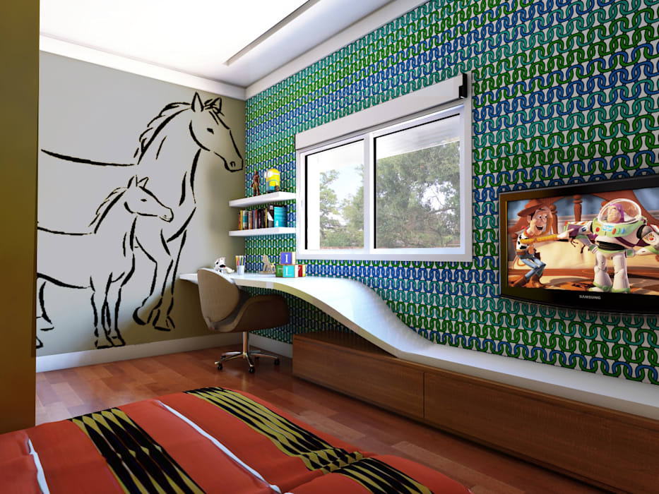 Детская комната в стиле модерн от Lozí - Projeto e Obra Модерн