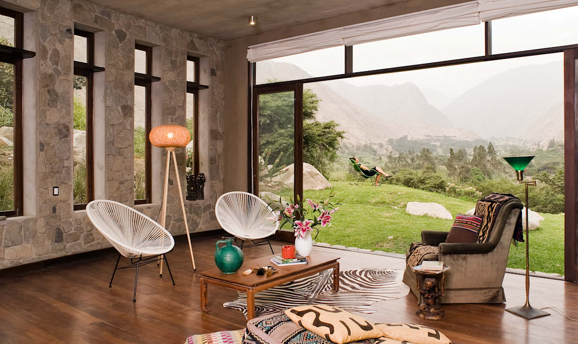 Casa Chontay Salas de estilo moderno de Marina Vella Arquitectura Moderno