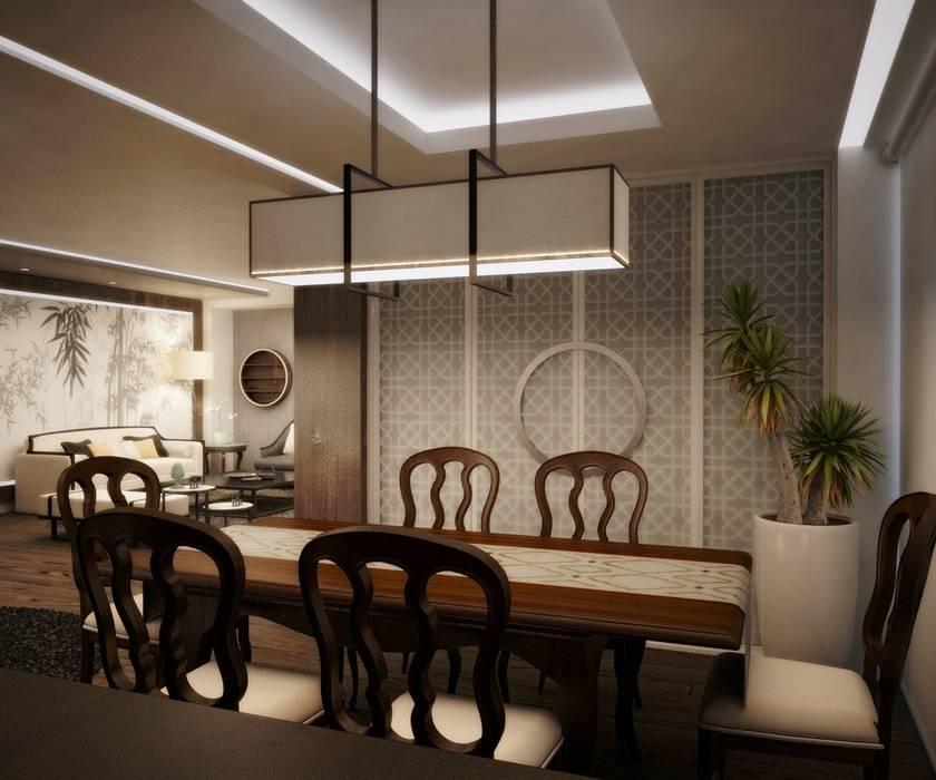 BESSIE Asian style dining room by Kuro Design Studio Asian