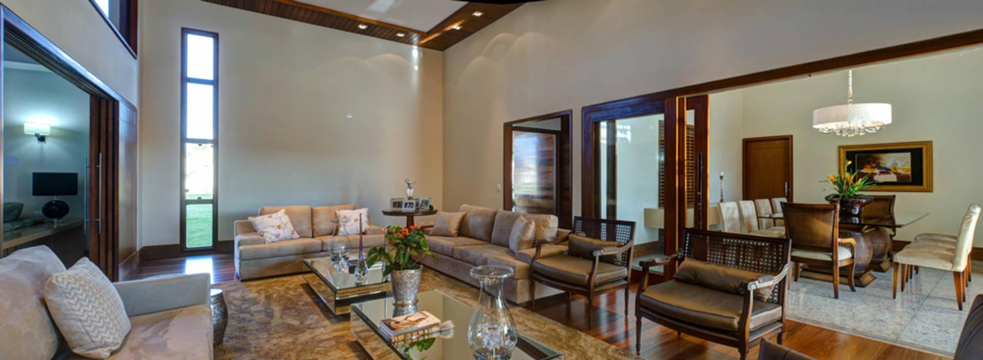 CASA DAS PRIMAVERAS Salas de estar modernas por BRAVIM ◘ RICCI ARQUITETURA Moderno