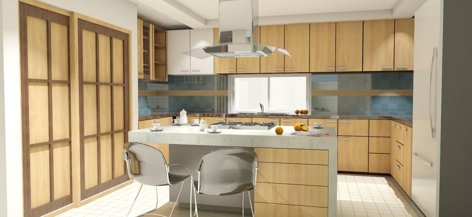 Modern Kitchen by FyA Arquitectos Modern Concrete
