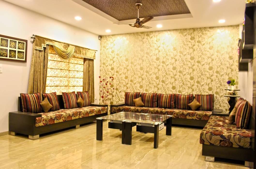 ห้องนั่งเล่น โดย Shadab Anwari & Associates., เอเชียน