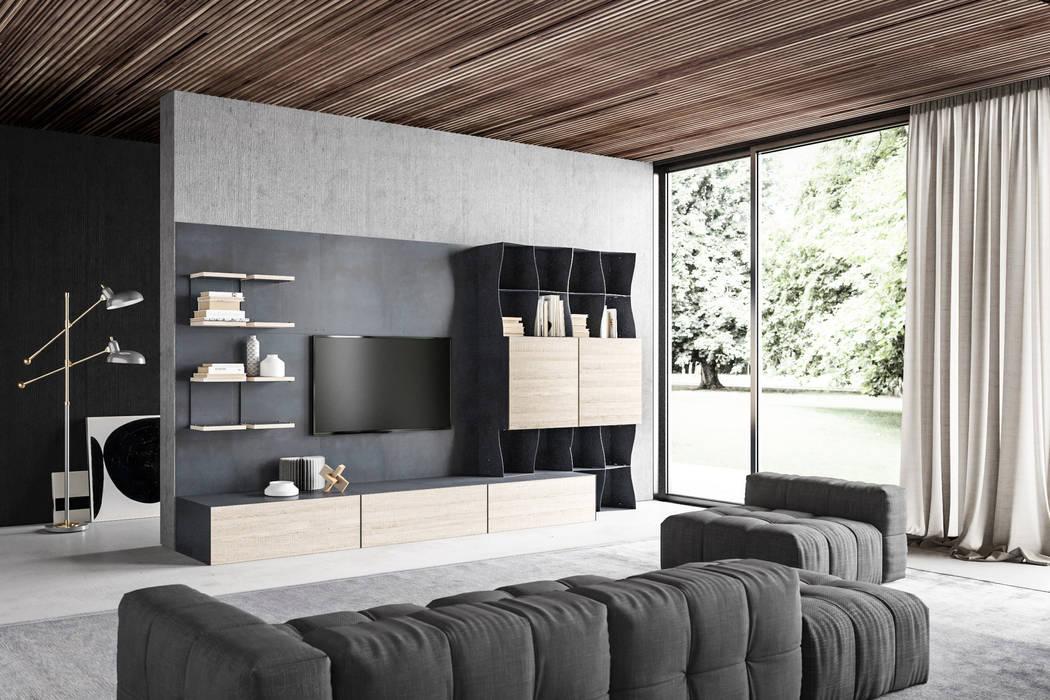 BandIt Design Moderne woonkamers IJzer / Staal Grijs