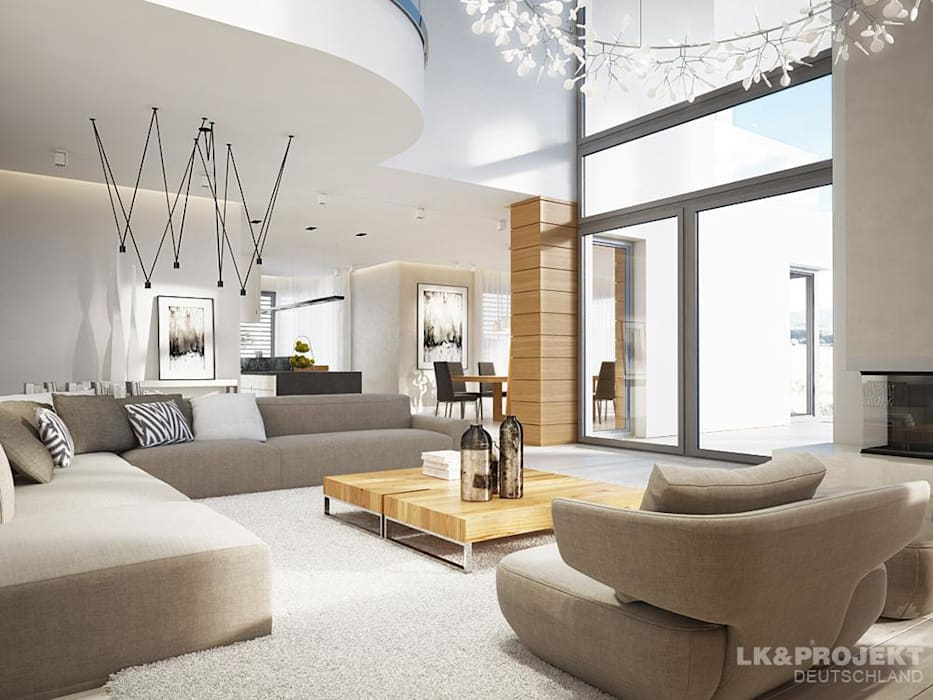 Living room by LK&Projekt GmbH, Modern