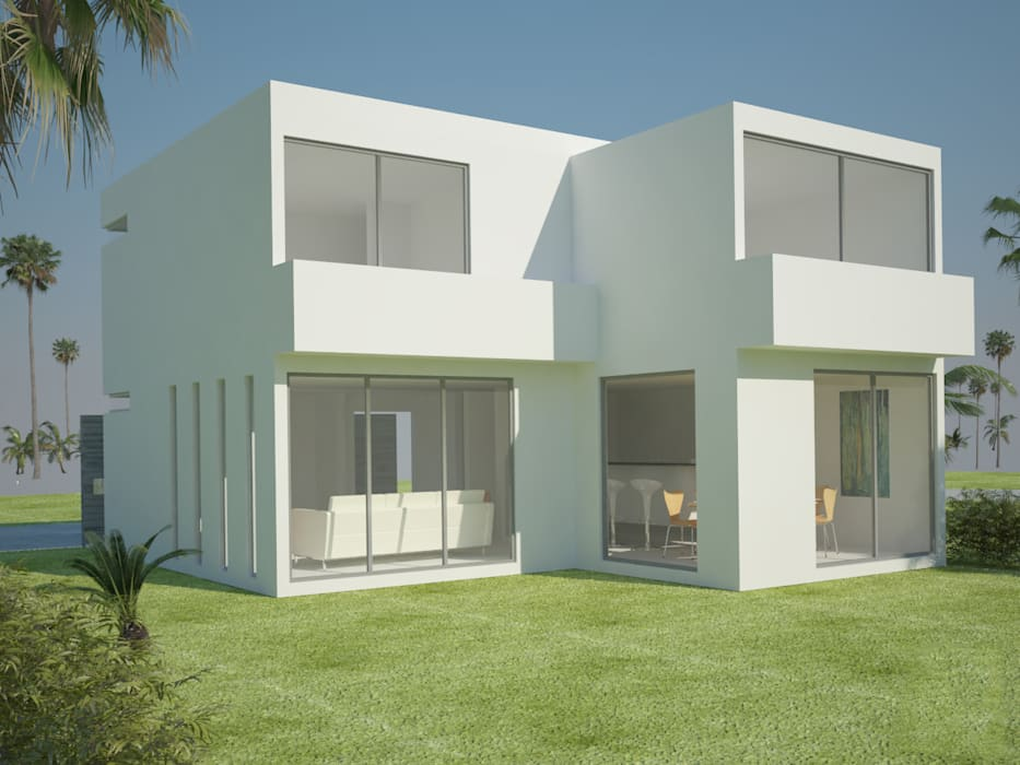 Modern houses by A.flo Arquitectos Modern Concrete