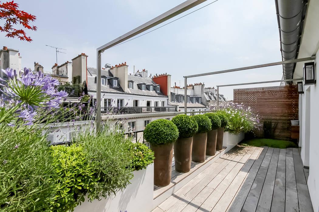 露臺 by Terrasses des Oliviers - Paysagiste Paris,