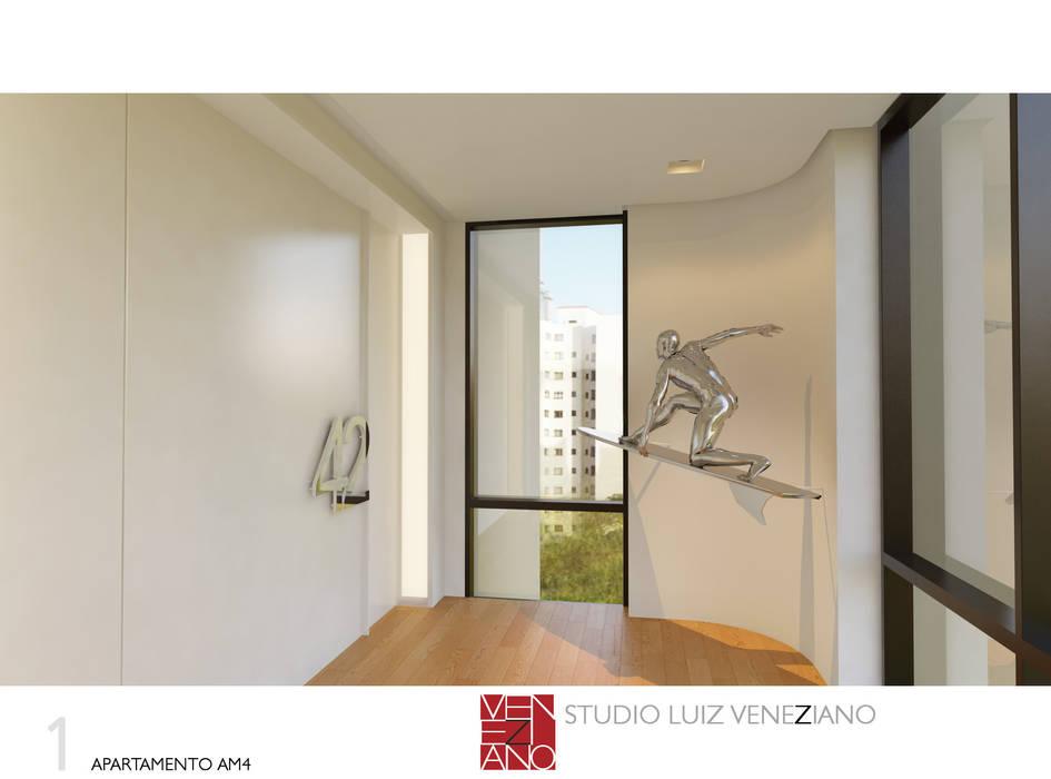 HALL DE ENTRADA: Janelas   por STUDIO LUIZ VENEZIANO,Moderno