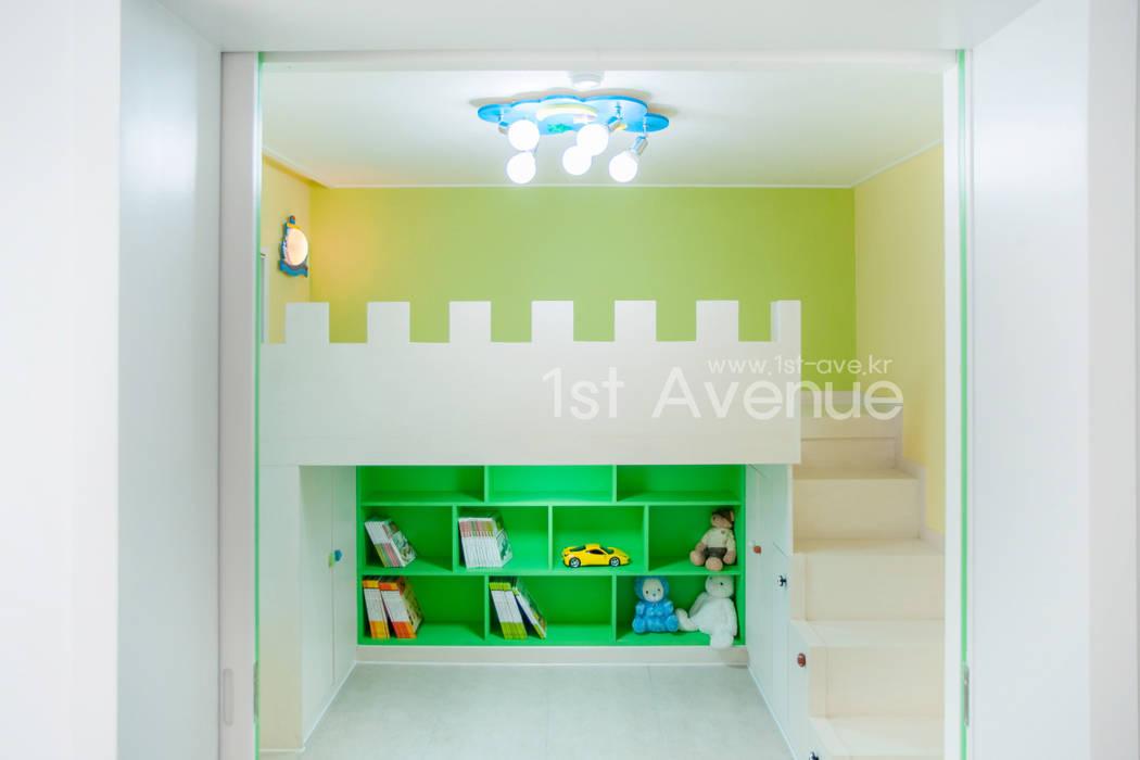 고급스러움이 풍기는 공간 속 컬러감이 돋보이는 아이들방 인테리어 모던스타일 아이방 by 퍼스트애비뉴 모던