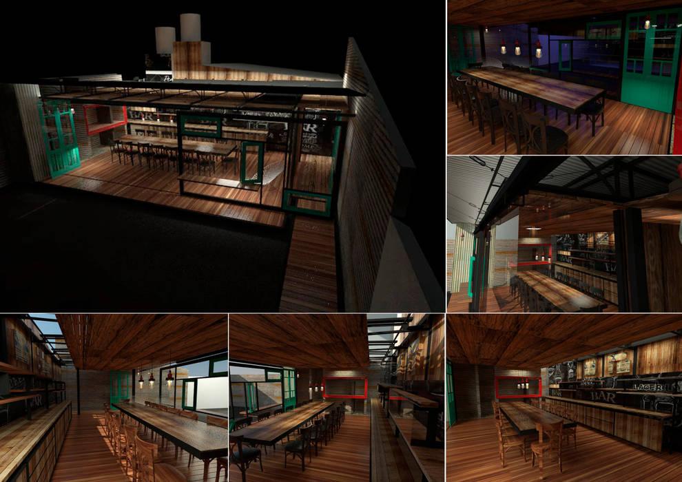 Dining room by juan olea arquitecto, Rustic