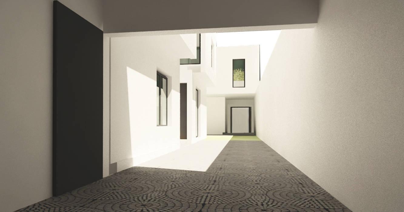 โดย JAPAZ arquitectura arte diseño โมเดิร์น อิฐหรือดินเผา