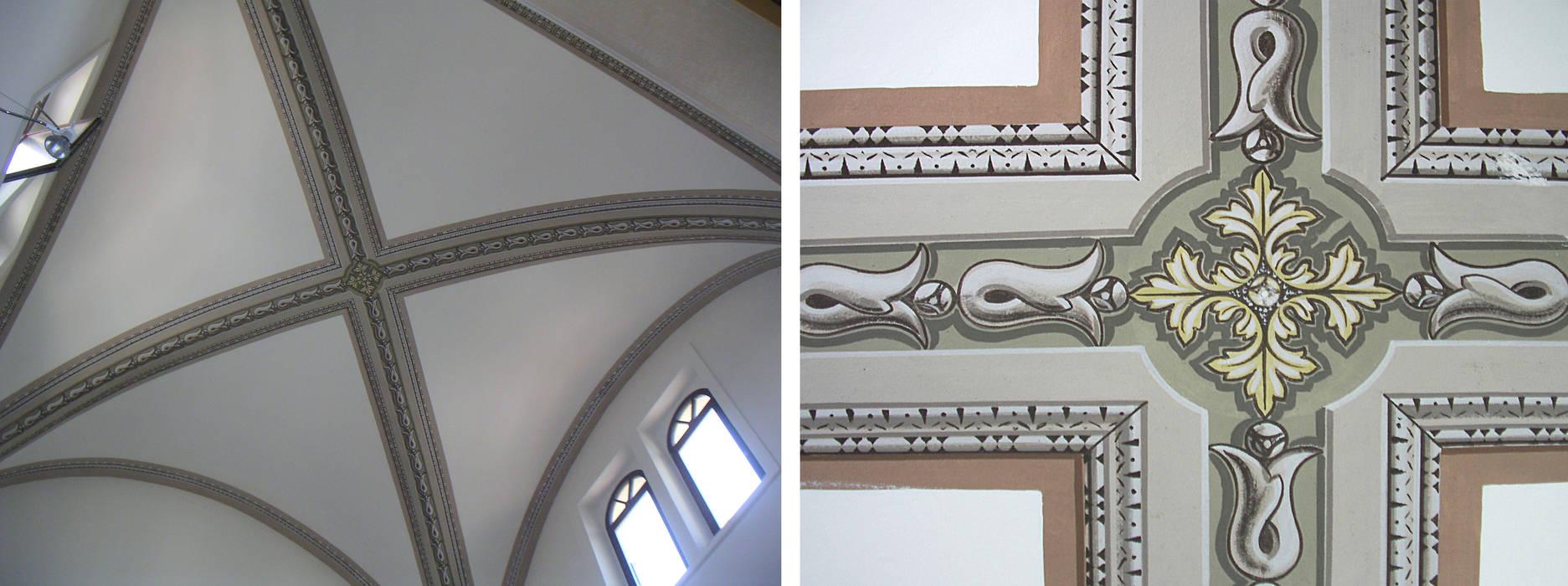 Decorazione dell'abside di una chiesa. Tempera.: Pareti in stile  di erica de rosa, dipinti, affreschi, trompe l'oeil,  decorazioni - Venezia