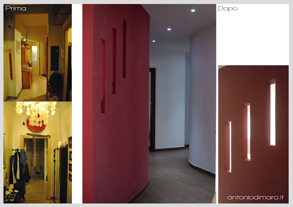 Percorsi : Ingresso & Corridoio in stile  di antoniodimaro&partners