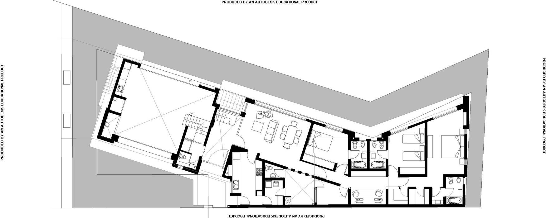 Vivienda Club de Campo Mendoza Casas modernas: Ideas, imágenes y decoración de YANCARELLI - GOMEZ CODINA arquitectos Moderno