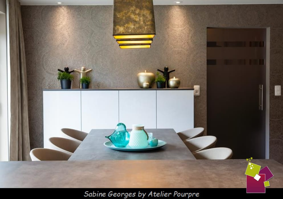 Aménagement séjour, cuisine et hall: salle à manger de style ...