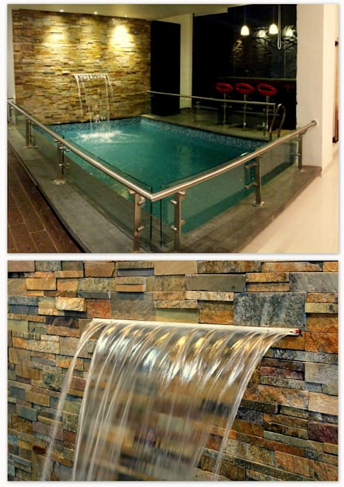 Mr. Sharma House Modern pool by homify Modern