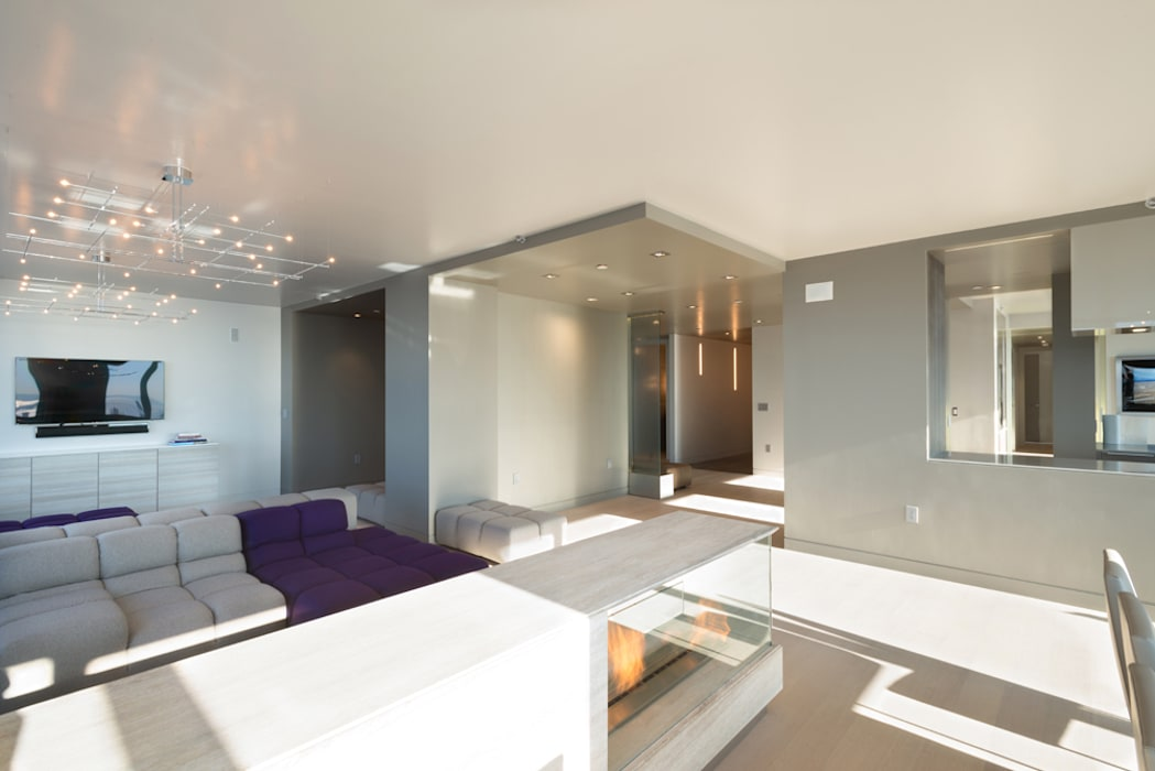 Luxury Apartment Combination Andrew Mikhael Architect Minimalist Living Room Homify