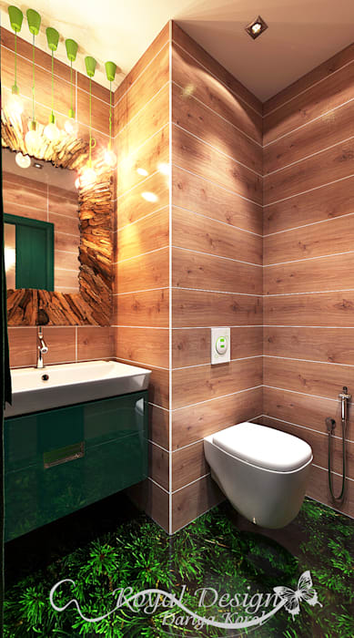 Your royal design Minimalist style bathroom Wood effect