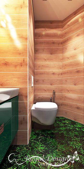 WC room in a panel house apartment Your royal design Ванная комната в стиле минимализм Эффект древесины