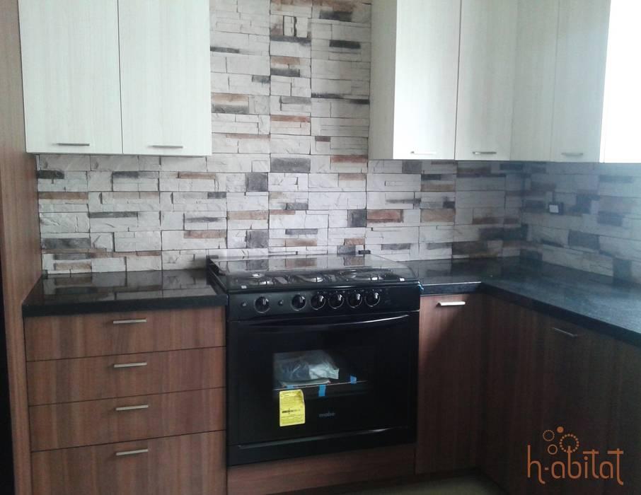Cuisine moderne par H-abitat Diseño & Interiores Moderne Granite
