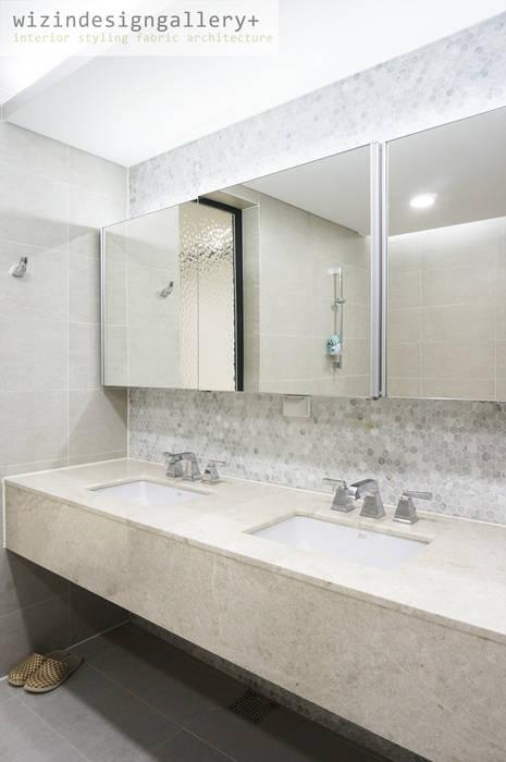 반포래미안퍼스티지 욕실 모던스타일 욕실 by wizingallery 모던