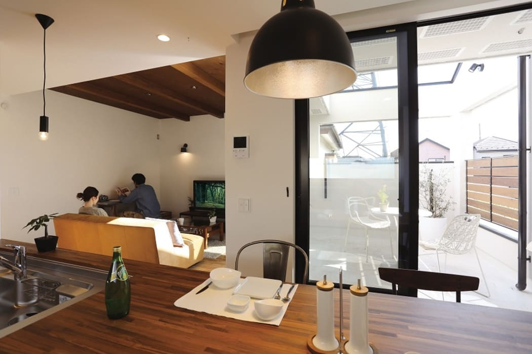 85inc. Industrial style dining room