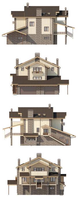 Сиера_530 кв.м.: Дома в . Автор – Vesco Construction, Классический