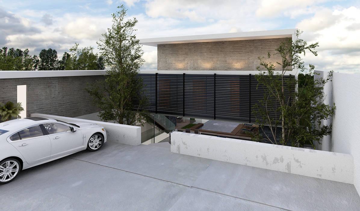 Fachada exterior Casas modernas de AParquitectos Moderno Madera Acabado en madera