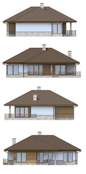 Casas de estilo escandinavo de Vesco Construction Escandinavo